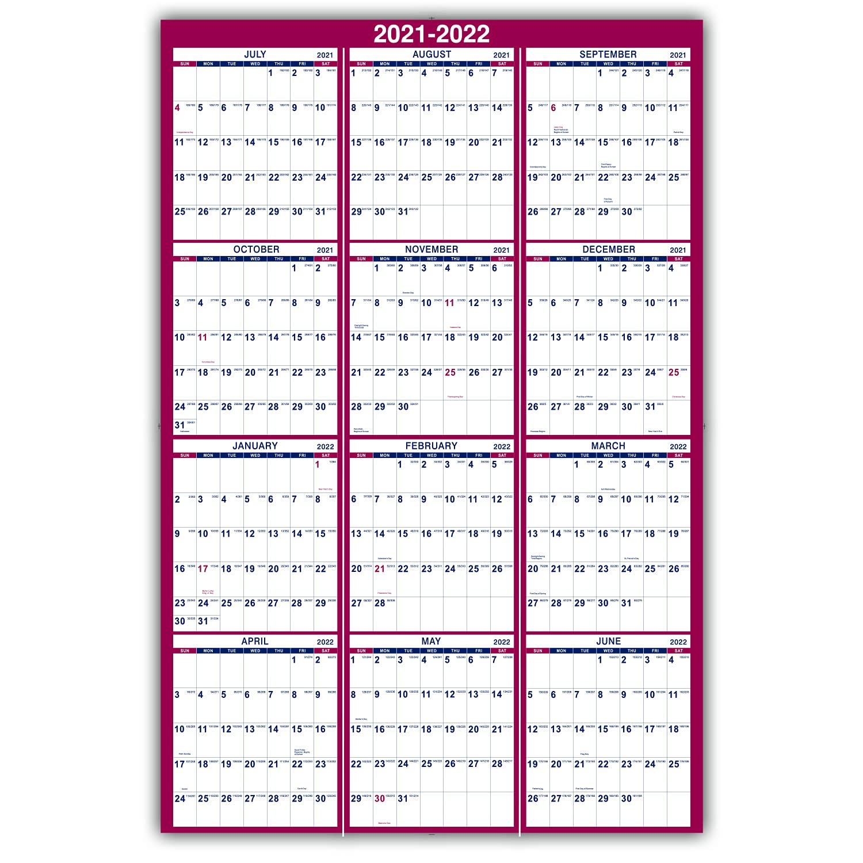 Calendrier Srd 2022 2021 2022 Yearly Wall Calendar   2021 2022 Yearly Wall Calendar