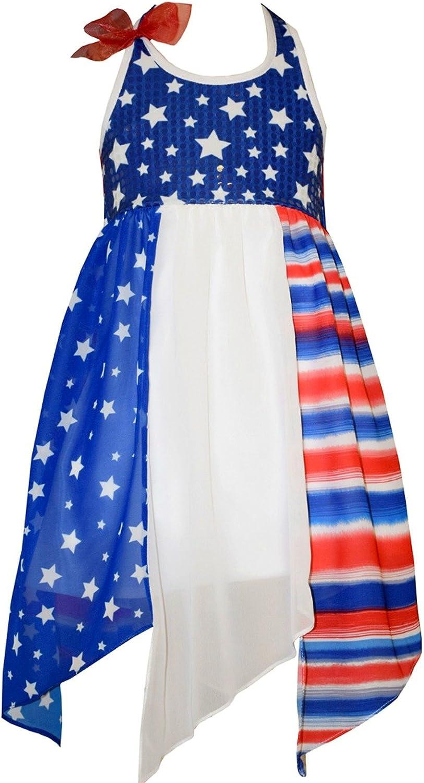 Bonnie Jean Big Girls Patriotic Hanky Hem Dress