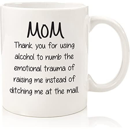 Mom Coffee Mugs Dear Mom Thanks for Putting Up with A Bratty Child Love Your Favorite Mothers Day Birthday Gifts Idea for Mom Mother from Daughter Son Coffee Cups