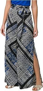 LE CHÂTEAU Women's Scarf Print Woven Slit Wide Leg Pant