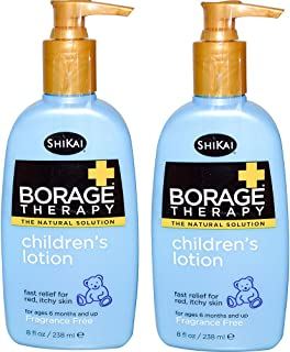 ShiKai All Natural Borage Dry Skin Therapy Pediatric Lotion For Baby, Kids and Children For Eczema, Dry Skin & Skin Proble...