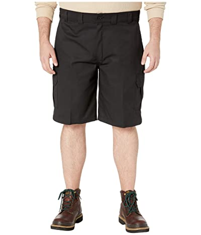 Dickies Big Tall 11 Cargo Work Active Waist Shorts Regular Fit (Black) Men