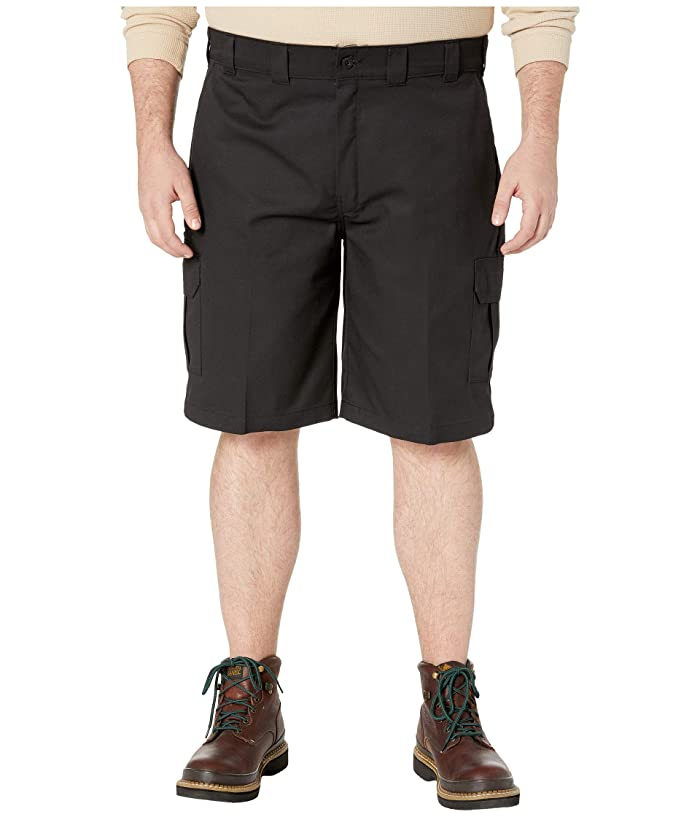Dickies Big Tall 11 Cargo Work Active Waist Shorts Regular Fit (Black) Men