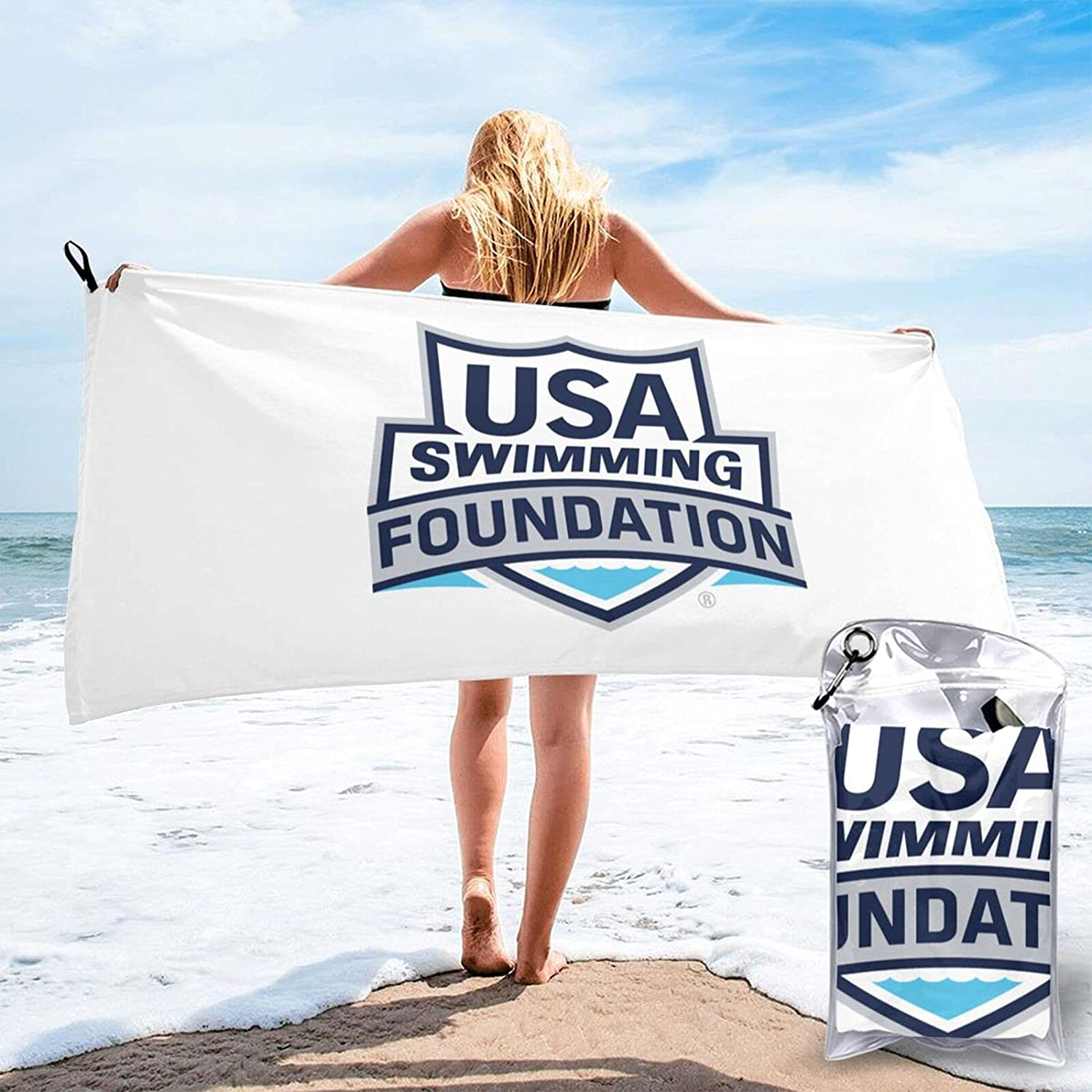 USA service Swimming Team 2 Quick Drying Bag Spring new work Carrying Beach Towel a with