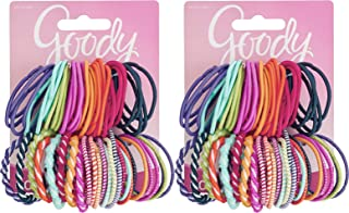 Goody Girls Ouchless Elastic Hair Ties, No-metal, 60 count, Assorted Colors (2 Pack)
