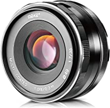 Meike 35mm f/1.7 Large Aperture Manual Focus APS-C Lens for Fujifilm X Mount Mirrorless Camera X-T3 X-H1 X-Pro2 X-E3 X-T1 X-T2 X-T10 X-T20 X-A2 X-E2 X-E2s X-E1 X30 X70 X-M1 X-A1 XPro1,etc