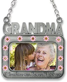 BANBERRY DESIGNS Grandmother Picture Ornament - If Grandmas were Flowers I'd Pick You - Pink Flowers and Jewels for Grandma