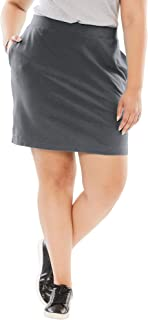 Women's Plus Size Stretch Cotton Skort