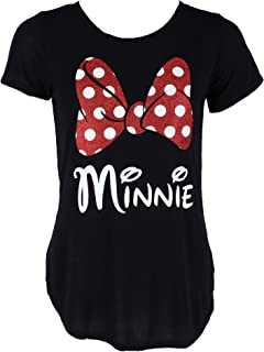 Disney Minnie Mouse Glitter Bow Women's T-Shirt