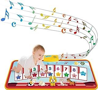 TECBOSS Kids Musical Mats, Piano Keyboard Dance Mat Touch Pl