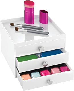 iDesign Clarity Cosmetic Organizer for Vanity Cabinet, White, 37062