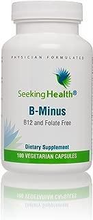 Seeking Health B Minus | 100 Capsules | Biotin Vegetarian Capsules | Biotin Supplement | Biotin for Women
