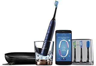 Philips Sonicare DiamondClean Smart Sonic Electric Toothbrush with Smart Brush Head Sensors and 5 Brushing Modes, Luna Blue, HX9954/56