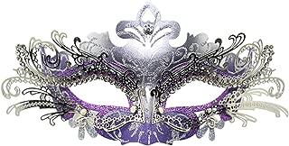 Masquerade Mask Fancy Dress Costume Party Face Masks Metal Rhinestones