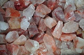 Fantasia Materials: 1 lb Fire Quartz Rough Stones from Madagascar