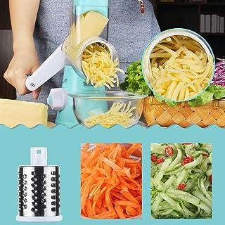 Premium Quality Round Mandoline Drum Slicer Rotary Cheese Grater Veggie Slicer Vegetable Carrot Shredder Nut Chopper Peeler