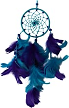Daedal dream catchers Little Bitty Royal and Light Blue Wool and Blend (Dimensions 31cm L X 14cm W X 2cm D) Hand Made Crafted Wind Chime Wall Hanging