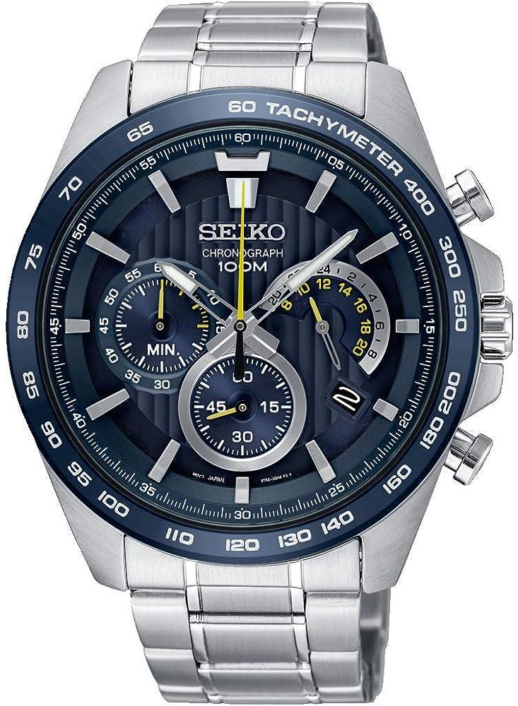 Seiko, orologio cronografo per uomo,in acciaio inossidabile SSB301P1