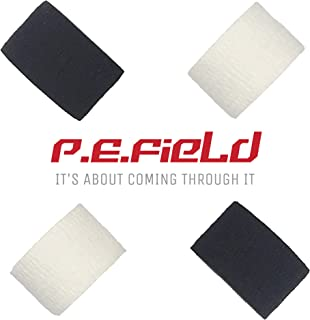 P.E.Field Premium Extra-Adhesive Weightlifting Hook Grip Tape Thumb Tape (Pack of 4) - Protects Fingers from Tears + Adds Support, for Crossfit, Bodybuilding, Weightlifting, Gymnastics