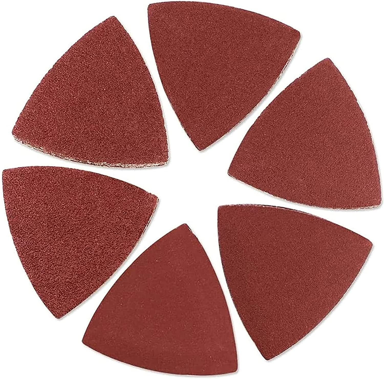 100pcs Triangular Seattle Mall Sandpaper Today's only Hook Sanding Loop Triangle Sheets