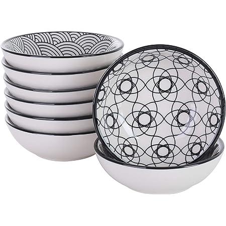 vancasso, série Haruka, 8 pièces, Assiettes à Tapas, à Sauce, en Porcelaine, Style Japonais