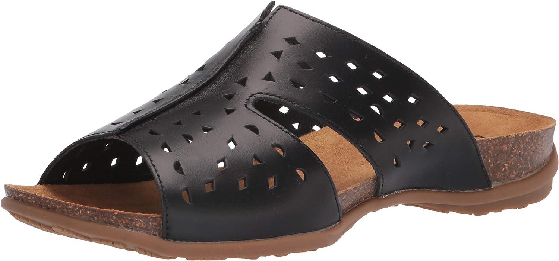 Propet Women's Fionna Slide Sandal, Black, 7.5 Wide