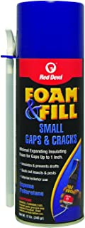 Red Devil 0913 Foam & Fill Small Gaps & Cracks Expanding Polyurethane Foam Sealant, 12-Ounce, Off White
