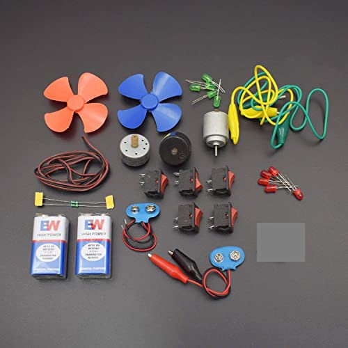 UT Electronics 29 Items Loose Parts Materials Science Project Kit