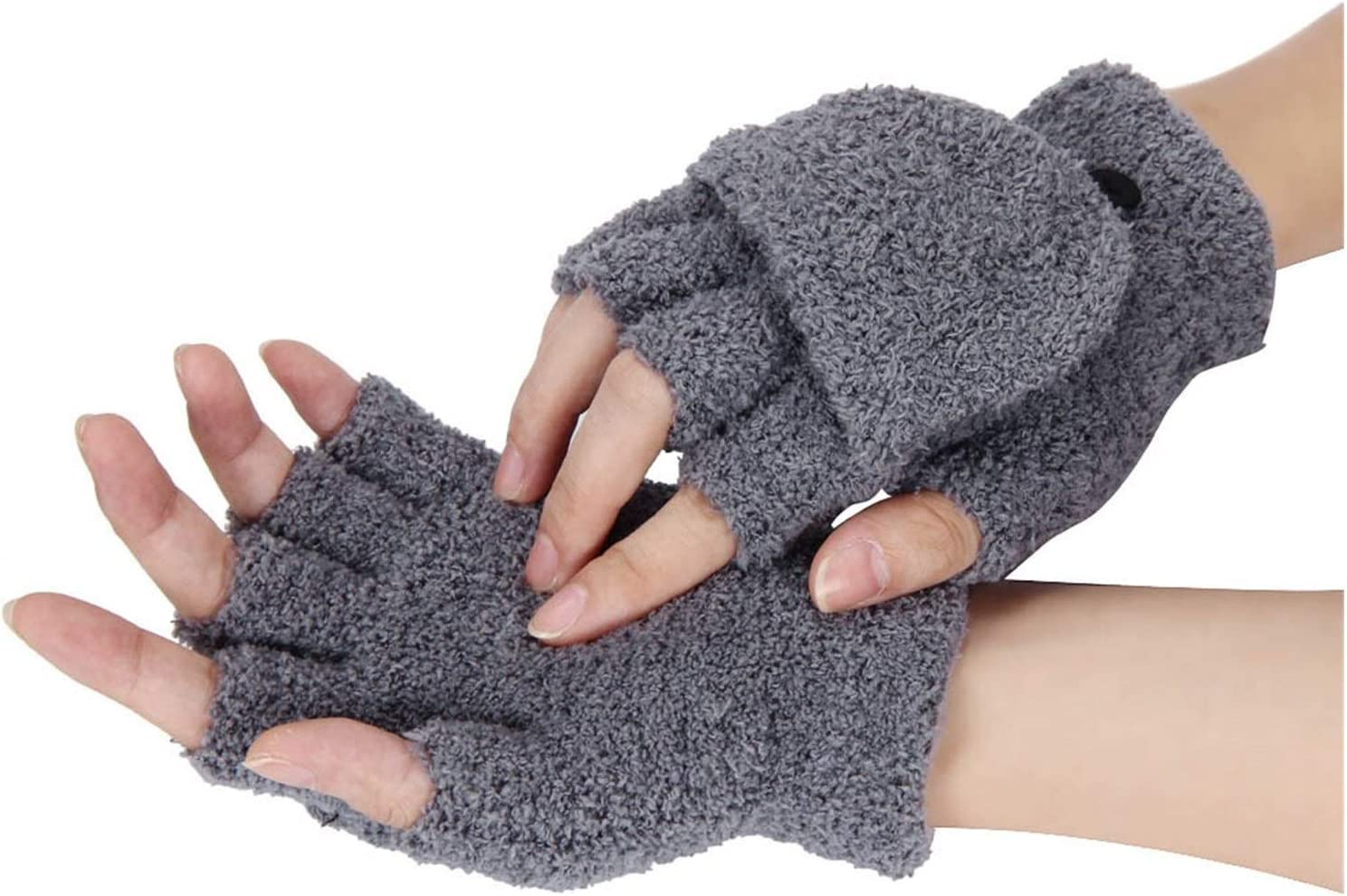 ZZTT Autumn and Winter Gloves Fashion Winter Gloves Women Girls Wrist Strong Winter Ladies Fingerless Gloves Mittens Ladies Half Finger Gloves Winter Warm and Comfortable Gloves for Men or Momen