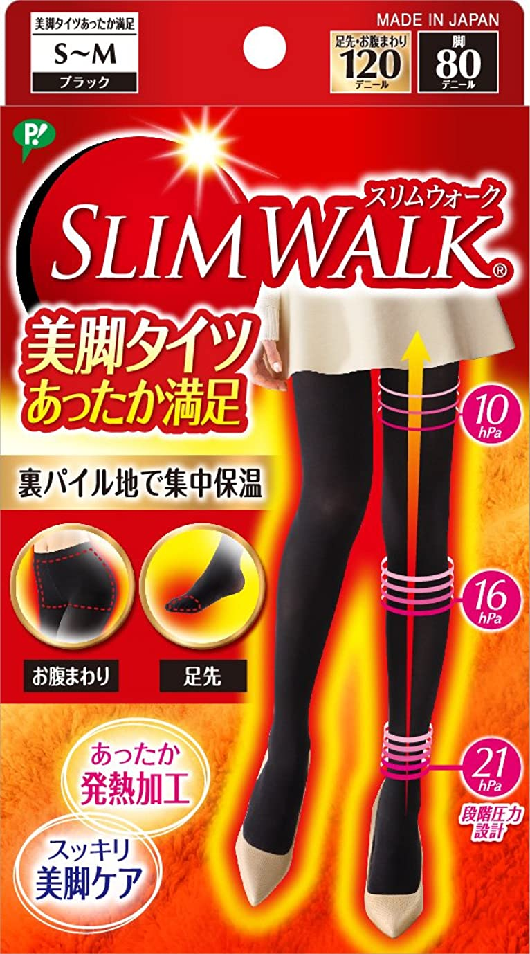時々お金見つけたスリムウォーク 美脚タイツ あったか満足 ブラック S~Mサイズ(SLIM WALK,tights,SM)
