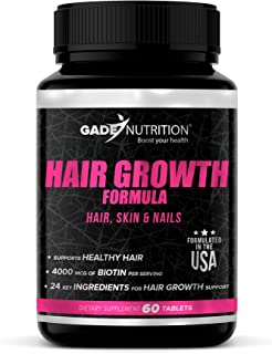 Hair Growth Vitamins for Women - Formulated with High Potency of Biotin, Ginkgo Biloba, Saw Palmetto and More Than 21 Esse...