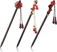 hair ornament chopstick geisha hair piece Wooden hair stick raw tourmaline and purple agate purple black kanzashi hairpin wood