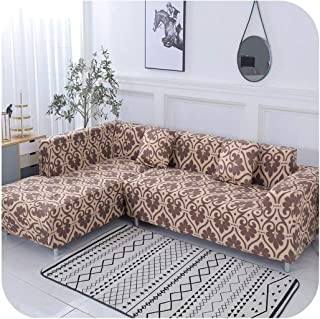Diremo Geometric Pattern 1 Piece/ 2 Pieces Sofa Cover for L Shaped Sectional Sofa Couch Cover Sofa Towel Sofa Covers for Living Room,Color 19,3-Seater 190-230cm