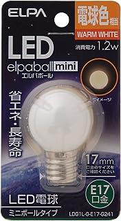 ELPA エルパ LED電球G30形E17 電球色 屋内用 省エネタイプ LDG1L-G-E17-G241