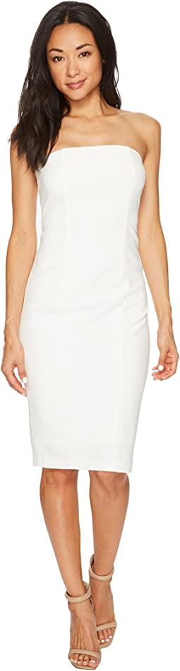 Strapless Stretch Crepe Bodycon Dress