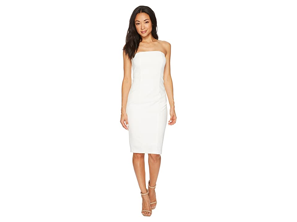 Donna Morgan Strapless Stretch Crepe Bodycon Dress (Ivory) Women