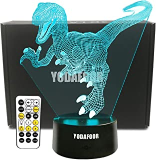 YODAFOOR Dinosaur Night Light Lamp Dinosaur Toy Gifts for Boys Teen Kids Birthday Halloween Nurcery Decor Lamp Bedroom Table Decoration (Dinosaur01)