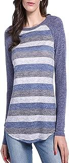 David SALC Stylish;Nice Women's Cotton Knited Color Block Lightweight Tunic Sweatshirt Tops