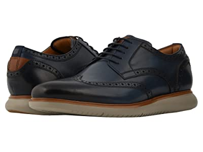 Florsheim Fuel Wing Tip Oxford (Navy/Grey Sole) Men