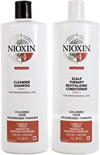 Nioxin System 4 Duo Pack, Cleanser 1L and Scalp Therapy Revitalising Conditioner 1L