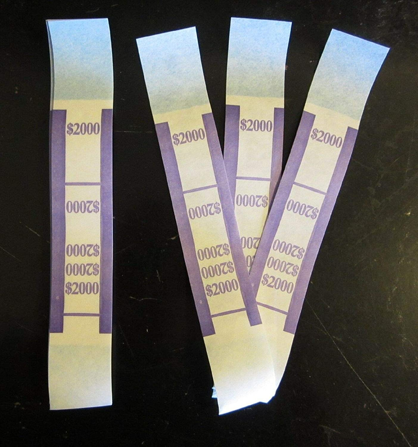 250 SELF Max 87% OFF Very popular Sealing Purple $2000 Currency Straps Bill P Bands Money