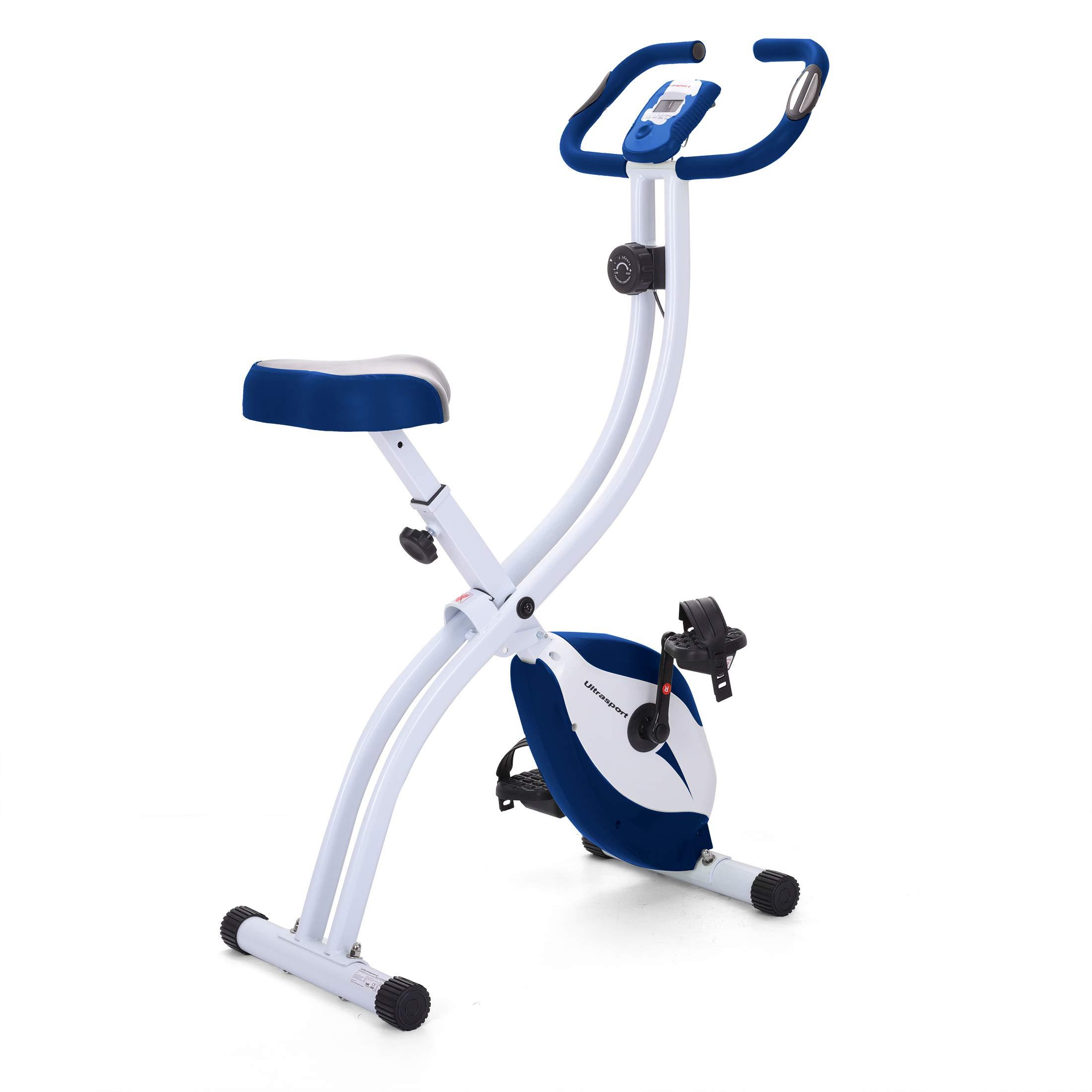 Ultrasport Unisex F-Bike, pantalla LCD, entrenador casero plegable ...