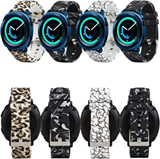 honecumi 20mm Watch Bands for Samsung Gear Sport Soft Silicone 20mm Smart Wristband Watch Strap for Galaxy Watch 42mm/Samsung Gear 2 Classic/Huawei Watch 2 Watch/Garmi Vivoactive 3