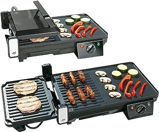 Grille-viande & plancha électrique de table 2 en 1, 2000 W [Rosenstein & Söhne]