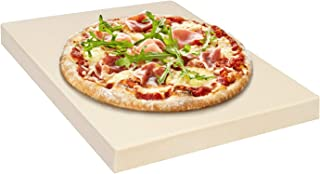 Rustler Rectangular Pizza Stone – Baking Stone 31.5 x 25.5 x 3 cm – Suitable for Ovens, Charcoal and Gas Grills – for Pizza, Tarts, Fresh Bread, Quiches and Cakes
