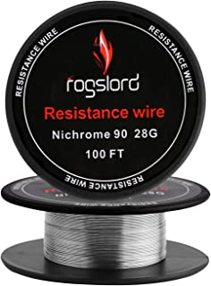 Resistance Wire Ni 90 28 Gauge - 100 ft Nichrome 90 AWG 0.32mm 100'