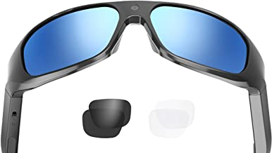 OHO 4K Ultra HD Water Resistance Video Sunglasses, Sports Action Camera with Built-in..