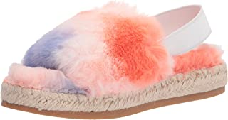 Dolce Vita Women's Keya Slipper, ORANGE MULTI FAUX FUR, 8