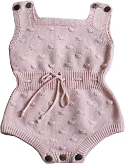 Wennikids Baby Boys and Girls Knitting Sweater Crochet Romper Climbing Clothes
