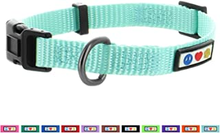 Pawtitas Pet Soft Adjustable Solid Color Nylon Puppy/Dog Collar Matching Leash and Harness Sold Separately